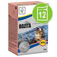 Bozita Feline Speciaal Voordeelpakket Kattenvoer 12 x 190 g Hair & Skin Sensitive