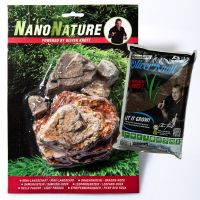 NanoNature Pale Pagoda Rock Set - 5 rocks + 3 litres NatureSoil brown, fine