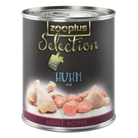 zooplus Selection Adult Active Pure Chicken - Saver Pack: 24 x 400g