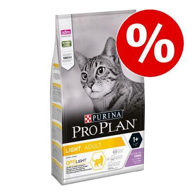 3 kg PURINA PRO PLAN Light kissanruoka erikoishintaan! - Light Adult Rich in Turkey
