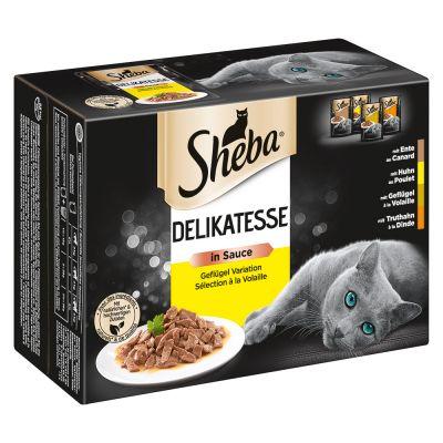 Sheba Selection in Sauce Pouches -säästöpakkaus 24 x 85 g - Fine Flakes in Jelly, kalalajitelma
