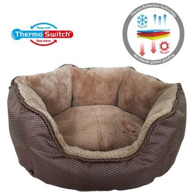 ThermoSwitch® Memory Foam Santorini -koiranpeti, ruskea-mokka - M: P 60 x L 50 x K 20 cm