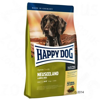 happy-dog-supreme-sensible-new-zealand-okonomipakke-2-x-125-kg
