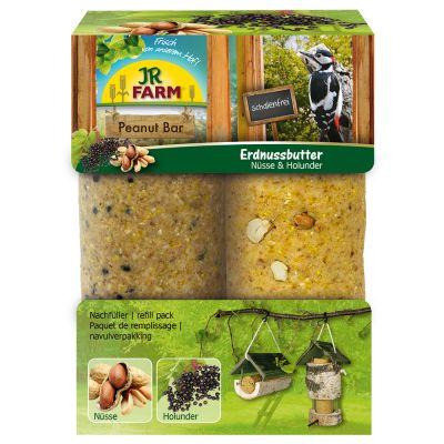 JR Farm 15% korting JR Garden Peanut Bar  Navulling: 2 Stuks á 350 g JR Garden Peanut Bar Noten & Vlierbessen online kopen