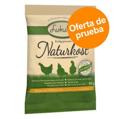 Lukullus Naturkost con pollo y arroz integral - Oferta de prueba - 3 x 80 g - Pack Ahorro