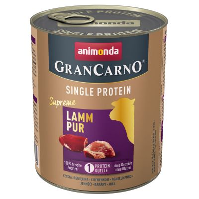 Animonda GranCarno Adult Single Protein Supreme 6 x 800 g - lammas