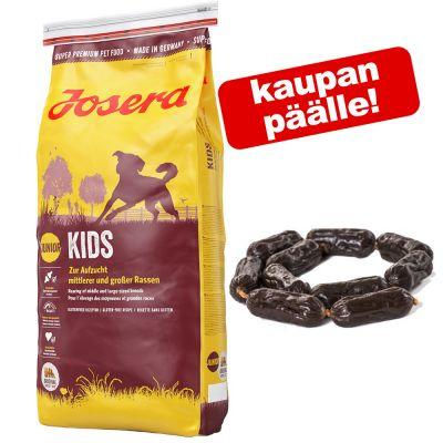 15 kg Josera + strutsinlihamakkarat kaupan päälle! - Josera Kids (15 kg)