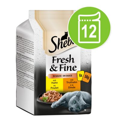 Sheba Fresh & Fine 12 x 50 g - kalalajitelma kastikkeessa
