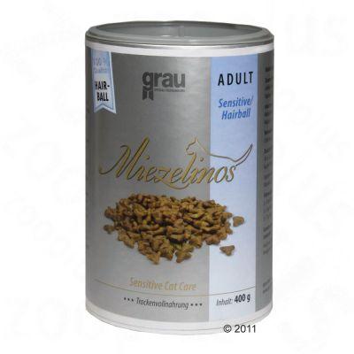 Grau Miezelinos Adult Sensitive Hairball – 2,5 kg
