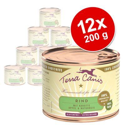 Terra Canis -säästöpakkaus 12 x 200 g - nauta, porkkana, omena & tumma riisi