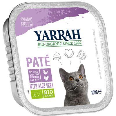 Yarrah Bio Paté 6 x 100 g en tarrinas para gatos - Salmón con algas marinas ecológicas