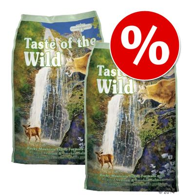 Taste of the Wild -säästöpakkaus - 2 x 7 kg Canyon River Feline