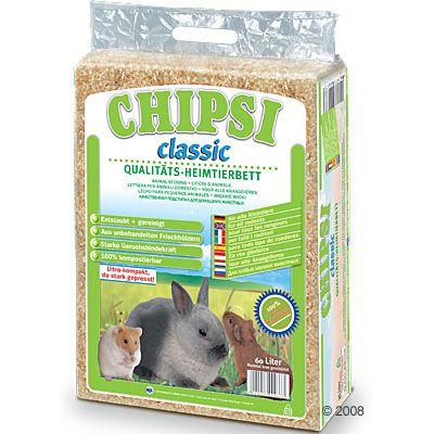 Chipsi Classic podściółka dla małych zwierząt - 3,2 kg (ok. 60 l)