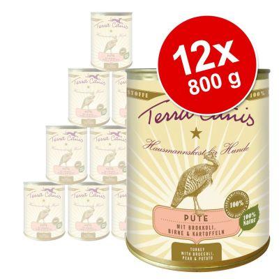 Terra Canis -säästöpakkaus 12 x 800 g - kalkkuna, parsakaali, päärynä & peruna