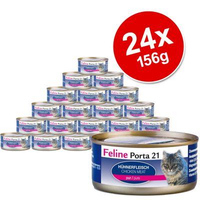 Feline Porta 21 Voordeelpakket 24 x 156 g - Tonijn met Garnaal
