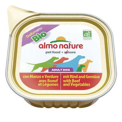 Korzystny pakiet Almo Nature Dog Bio Paté, 12 x 100 g - Cielęcina z warzywami