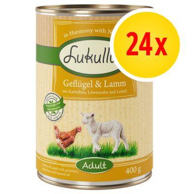 Pack ahorro: Lukullus 24 x 400 g - Conejo y venado
