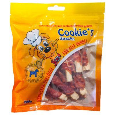 Cookie´s Delikatess snacks de pescado para perros y gatos - Palitos de carbonero y pollo - 200 g