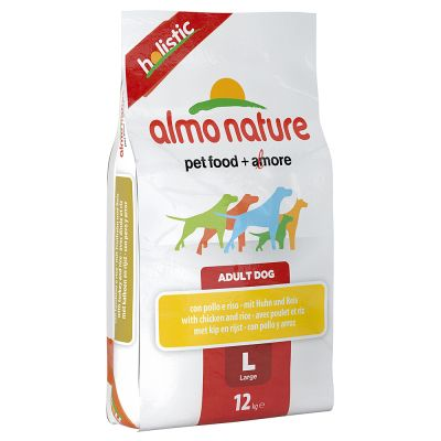 Almo Nature Adult Large, kurczak z ryżem - 12 kg
