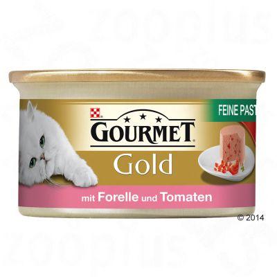 12x85g Gold Pate Fin Gourmet Hrana Umeda Pisici -