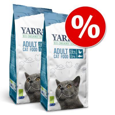 Yarrah Organic -säästöpakkaus - 2 x 10 kg Yarrah Organic Chicken & Fish, viljaton