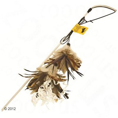 No Brand - Kattenhengel Crunchy Feather - ca. 80 cm