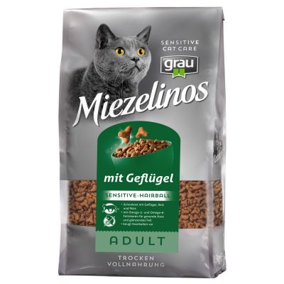 Grau Miezelinos Adult Sensitive Hairball - 2,5 kg