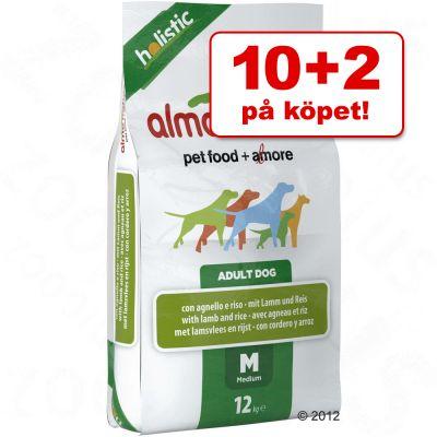 10 kg + 2 kg på köpet Almo Nature hundfoder ! – Adult Medium kyckling & ris
