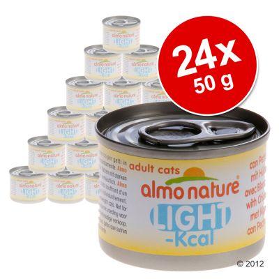 Ekonomipack: 24 x 50 g Almo Nature Light – 2 blandade smaker
