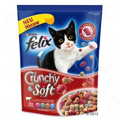 Felix Crunchy & Soft, wołowina z kurczakiem i warzywami - 750 g