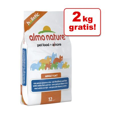 10 kg + 2 kg på köpet! 12 kg Almo Nature Holistic – Turkey & Rice