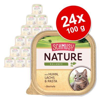 Schmusy Nature Balance -säästöpakkaus 24 x 100 g – lajitelma