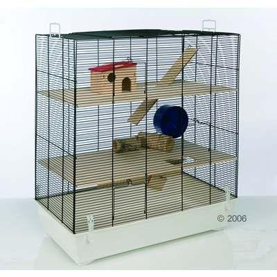 Cage Skyline Fun Area Leon pour hamster, gerbille et souris - L 67 x l 36,5 x H 65 cm