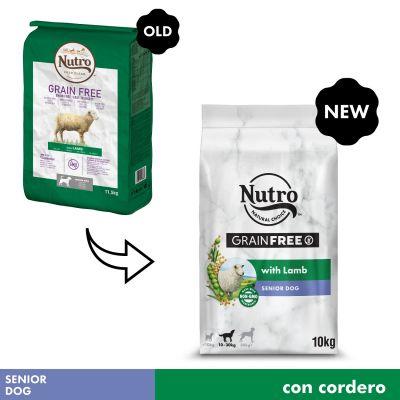 Nutro Grain Free Senior Cordero para perros - 2 x 10 kg - Pack Ahorro