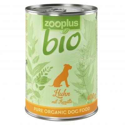 zooplus Bio, kana & porkkana – 6 x 400 g