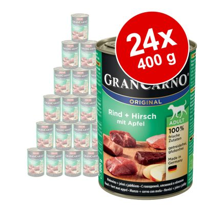 Animonda GranCarno Original -säästöpakkaus 24 x 400 g - nauta & riista