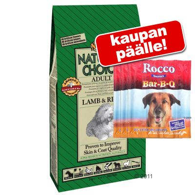 10/12 kg Nutro Choice + Rocco Bar-B-Q Sticks kaupan päälle! – Senior Chicken & Rice (10 kg)