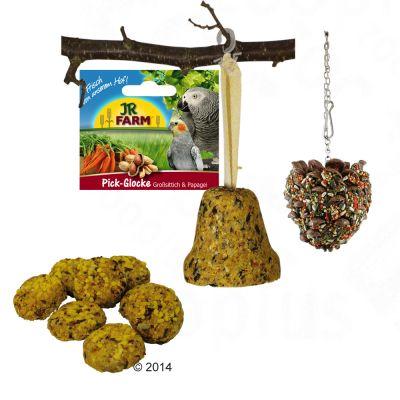 JR Farm Paket för stora parakiter och papegojor – Ekonomipack: 2 x 435 g