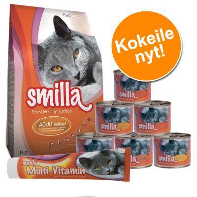 Smilla-kokeilupakkaus: kuivaruoka, märkäruoat + tahna - setti 1: mallastahnalla