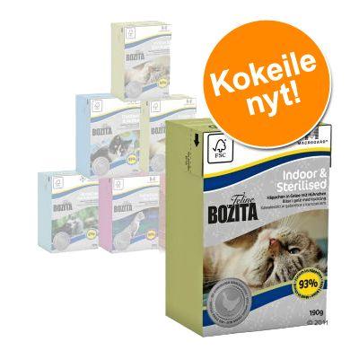 Bozita Feline -kokeilupakkaus 6 x 190 g - monta makua