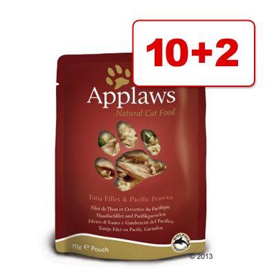 Applaws-kissanruoka 12 x 70 g: 10 + 2 kaupan päälle! - kananrinta & parsa