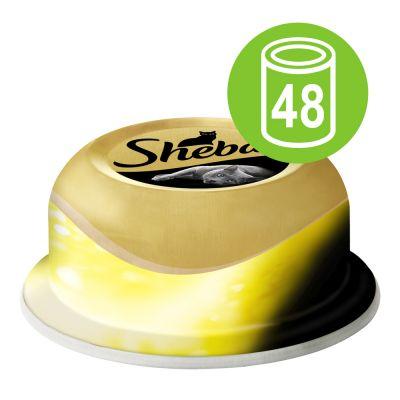 Sheba Fine Fillets -säästöpakkaus 48 x 80 g - lajitelma