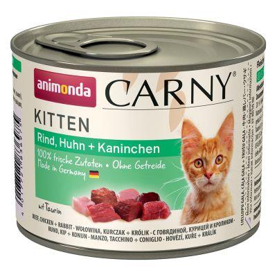 Levně Animonda Carny Kitten 6 x 200 g - Hovězí, telecí & kuře