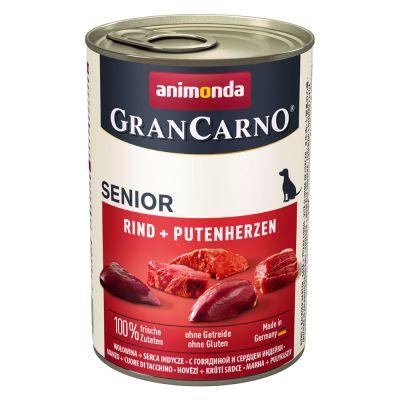 Animonda GranCarno Original Senior 6 x 400 g - nauta & kalkkunansydän