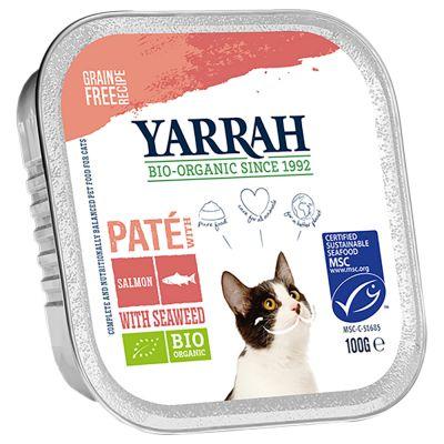 Yarrah Organic Pate 6 x 100 g - lohi & luomumerilevä