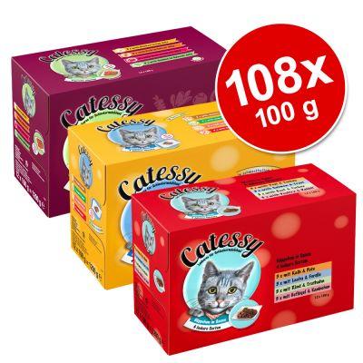 Jumbo-säästöpakkaus: Catessy-pussiruoat 108 x 100 g – 108 x 100 g – 12 eri makua