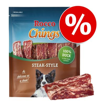 Rocco Chings Steak Style -säästöpakkaus - kana 12 x 200 g