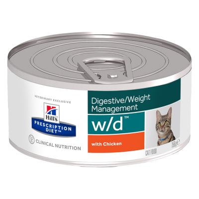 Hill´s Prescription Diet Feline w/d Digestive/Weight Management – kana -12 x 156 g