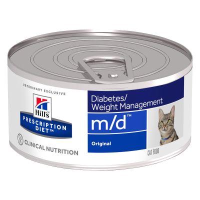 Hill´s Prescription Diet Feline m/d Diabetes/Weight Management Original - säästöpakkaus: 24 x 156 g
