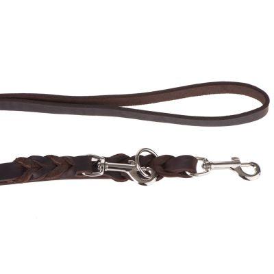 heim-dubbele-lijn-uit-leer-met-ingevlochten-karabijnhaak-220-cm-lang-18-mm-breed